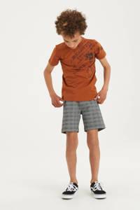 Shoeby Jill & Mitch T-shirt Fabiano met printopdruk oranje, Oranje