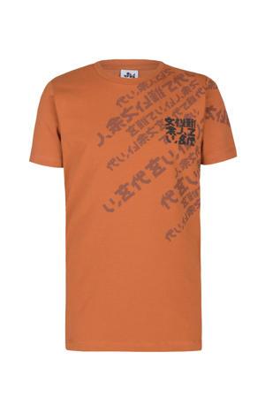 T-shirt Fabiano met printopdruk oranje
