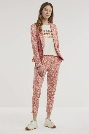 blazer met all over print rood