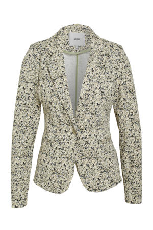 blazer met all over print groen