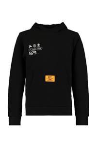 CoolCat Junior hoodie Sil met tekst zwart, Zwart