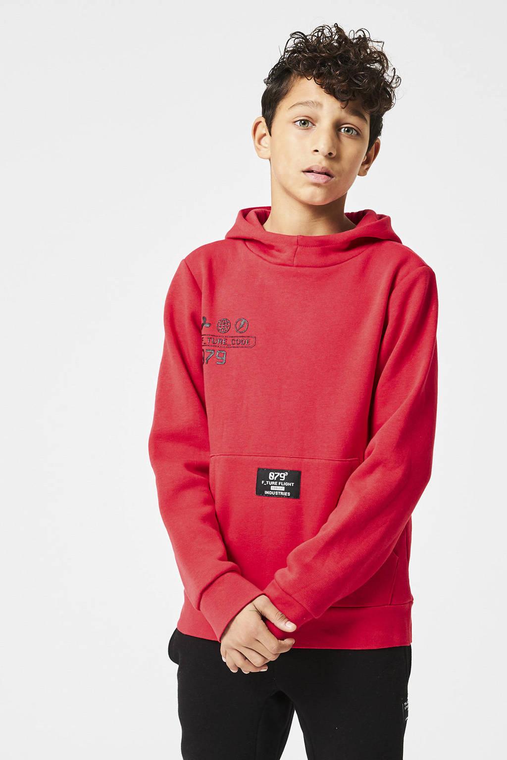 CoolCat Junior hoodie Sil met tekst rood, Rood