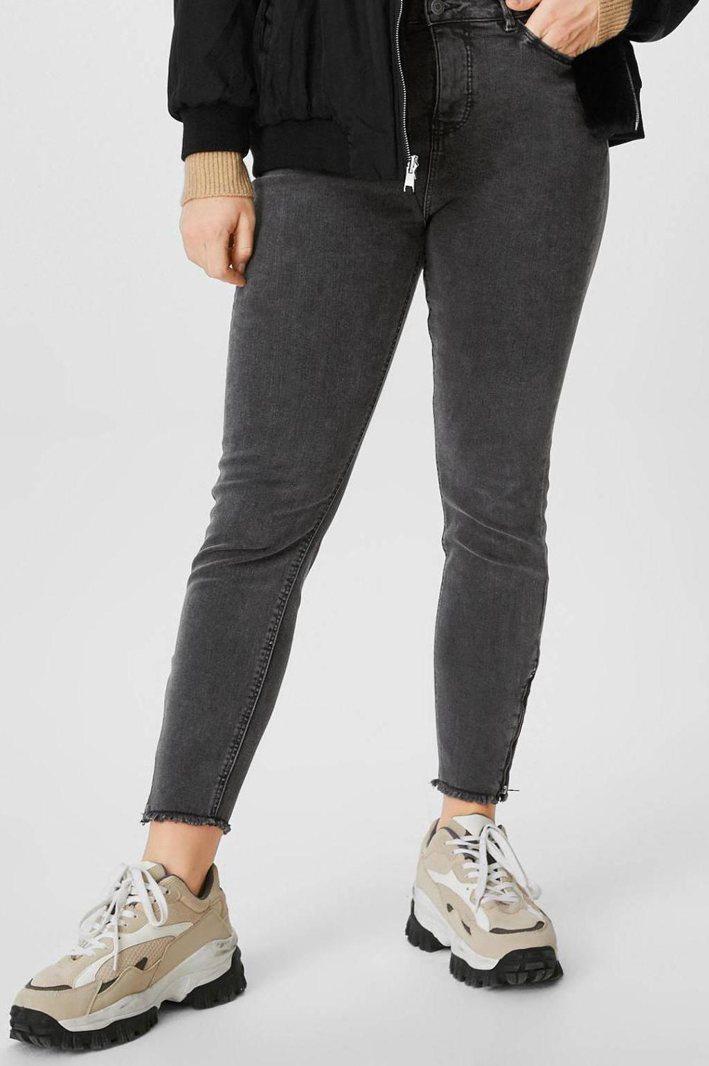 C&A XL Clockhouse high waist skinny jeans antraciet, Antraciet