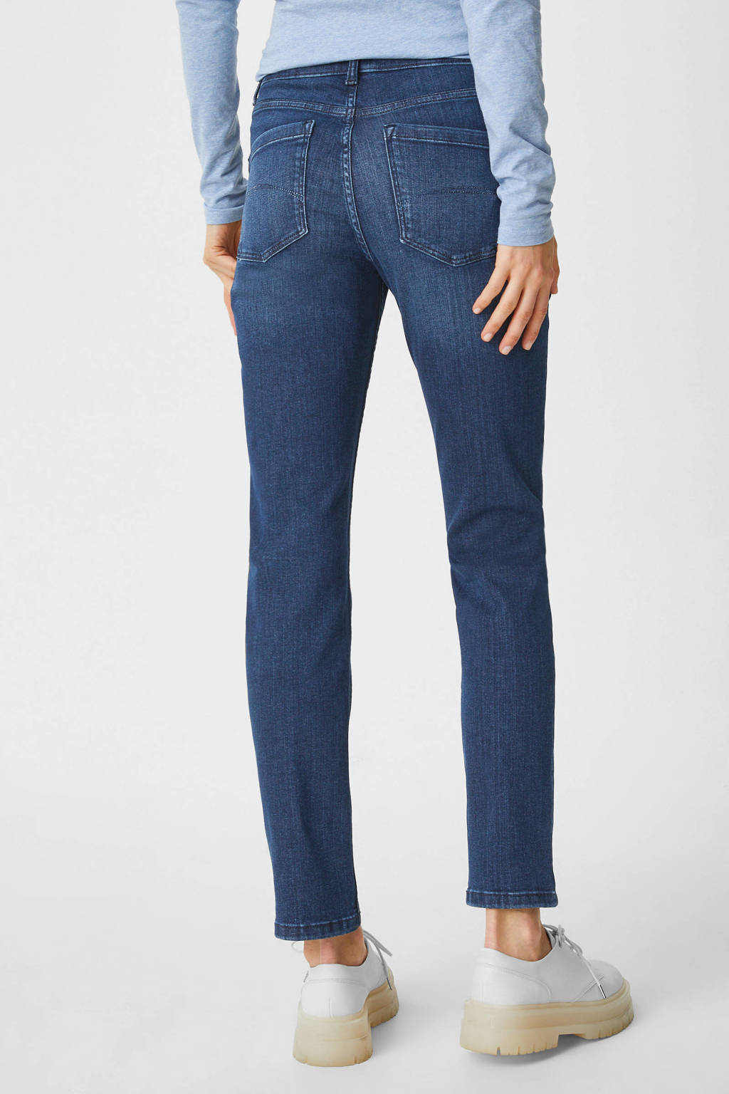 C&A The Denim slim fit jeans donkerblauw, Donkerblauw