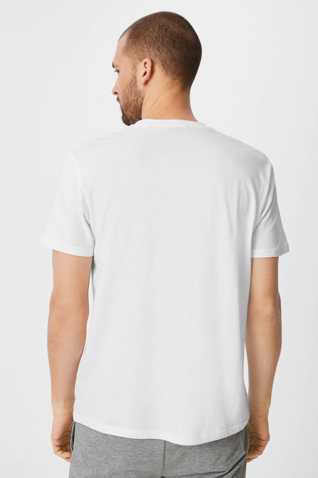 C&A Canda T-shirt - (set van 5), Wit