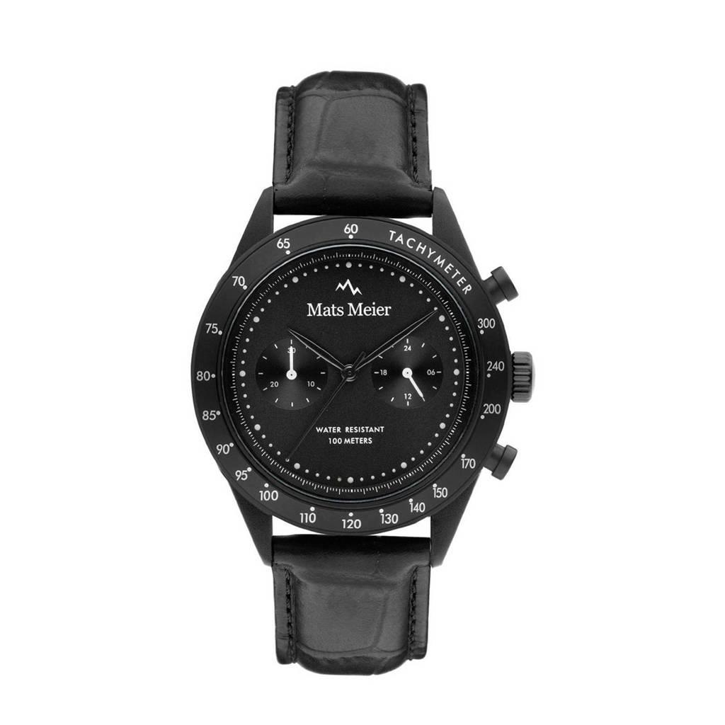 Mats Meier Arosa Racing Chrono horloge - MM50003 zwart, Zwart