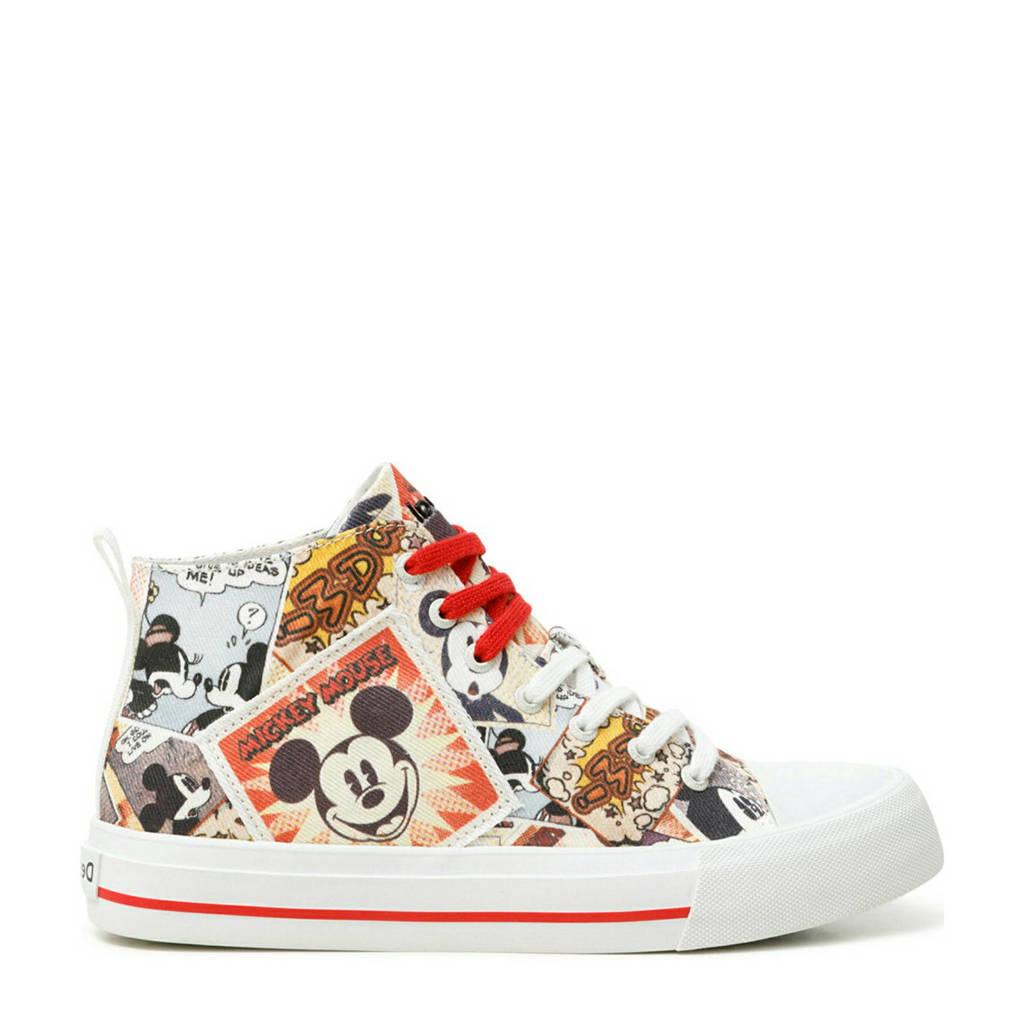 Desigual Mickey Mouse  hoge sneakers wit/multi, Wit/multi