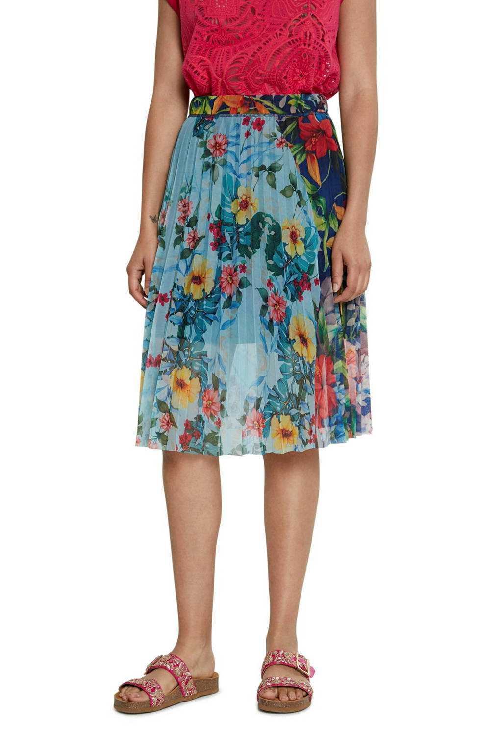 Desigual rok met all over print multicolor, Multicolor