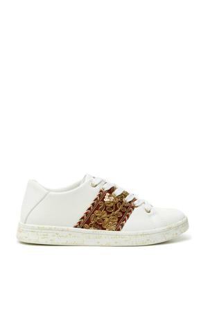sneakers met borduursels wit