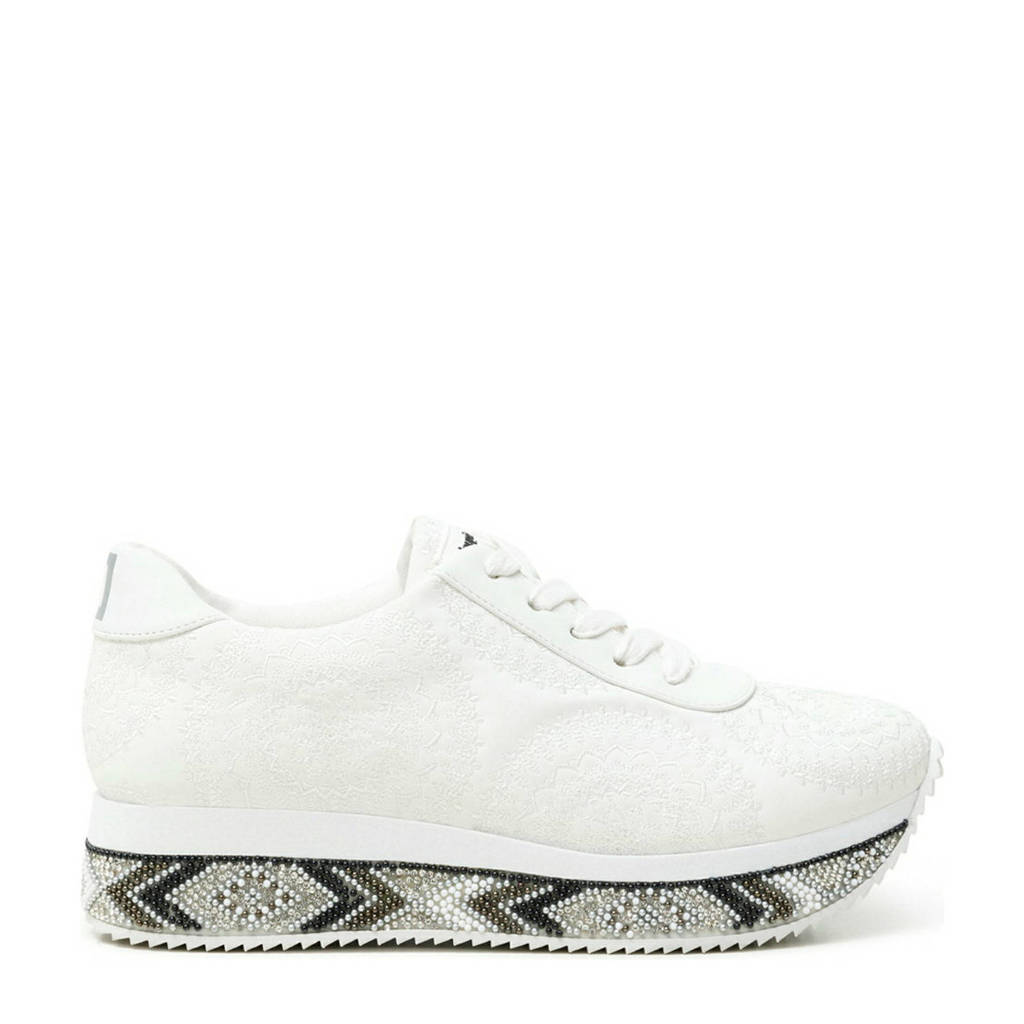 Desigual   plateau sneakers wit, Wit