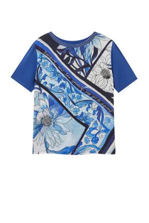 longsleeve met all over print blauw