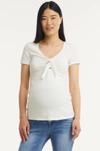 MAMALICIOUS zwangerschapstop Asia met biologisch katoen wit, Wit