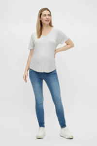 MAMALICIOUS T-shirt - set van 2 Alison donkerblauw/wit, Donkerblauw