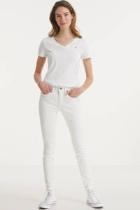 G-Star RAW 3301 MID SKINNY RIPPED EDGE ANKLE JEANS skinny jeans met biologisch katoen wit, Wit