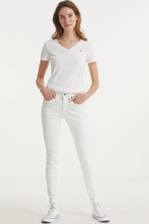 3301 MID SKINNY RIPPED EDGE ANKLE JEANS skinny jeans met biologisch katoen wit