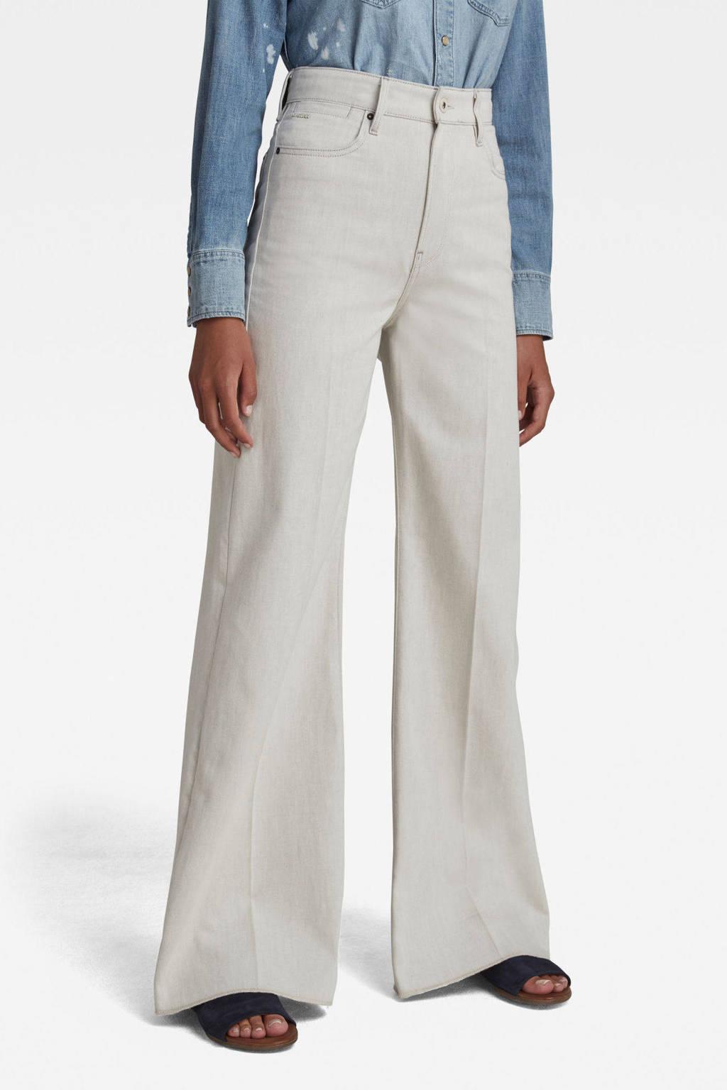 G-Star RAW Deck high waist wide leg jeans ecru, Ecru