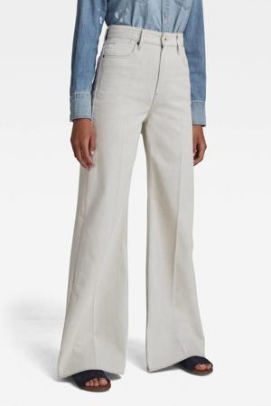 Deck high waist wide leg jeans ecru