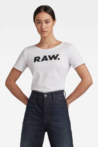 G-Star RAW T-shirt van biologisch katoen wit, Wit