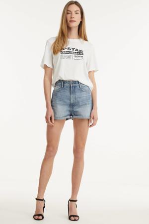 Tedie high waist jeans short light denim