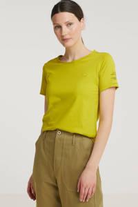G-Star RAW T-shirt van biologisch katoen geel, Geel