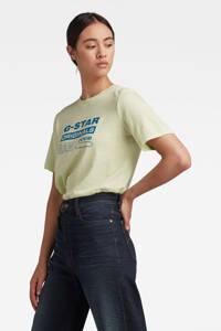 G-Star RAW T-shirt van biologisch katoen lichtgroen, Lichtgroen