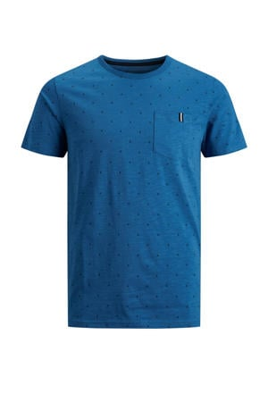 T-shirt And met all over print blauw
