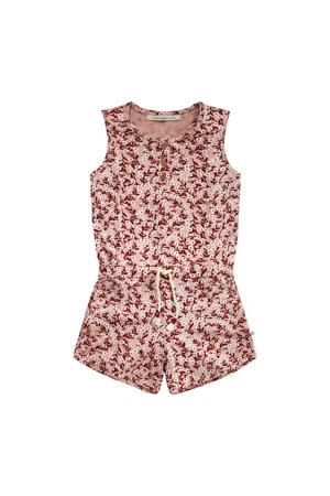 gebloemde jumpsuit roze/roodbruin/wit