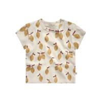 Your Wishes T-shirt met fruitprint ecru/geel, Ecru/geel