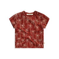 Your Wishes T-shirt met all over print roodbruin, Roodbruin
