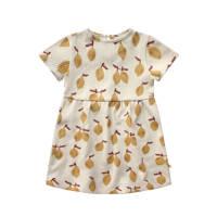 Your Wishes baby jurk met fruitprint wit/geel, Wit/geel
