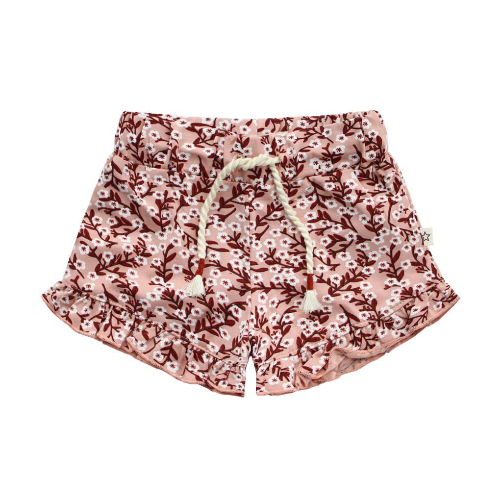 Your Wishes gebloemde regular fit korte broek roze/roodbruin/wit, Roze/roodbruin/wit