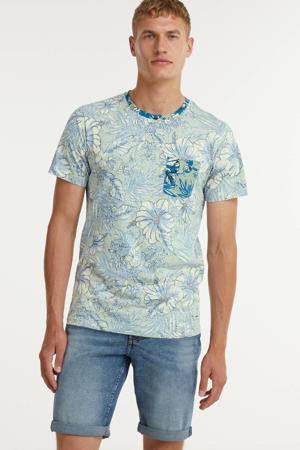 T-shirt Bruce van biologisch katoen lichtblauw