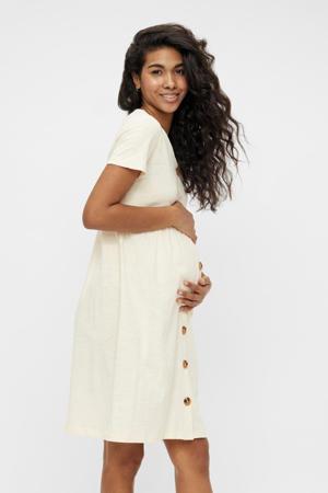 zwangerschapsjurk Janaya van biologisch katoen ecru