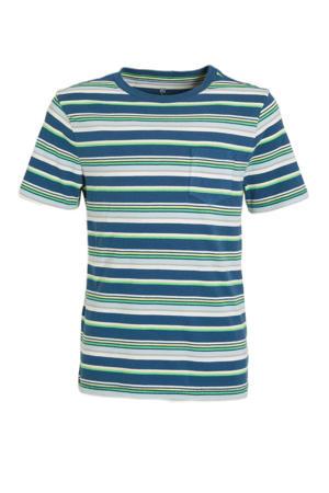 gestreept T-shirt blauw/multi