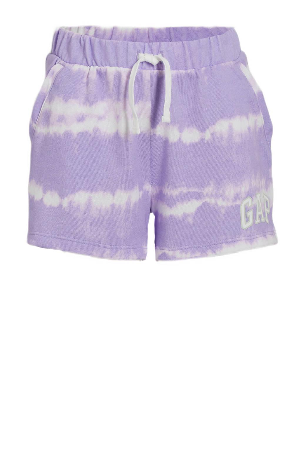 GAP tie-dyeregular fit sweatshort lila/wit, Lila/wit
