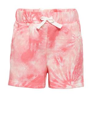 tie-dyeregular fit sweatshort roze
