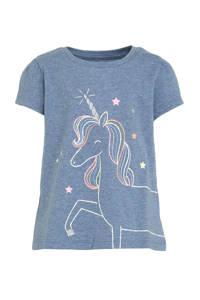 GAP T-shirt met printopdruk blauw, Blauw