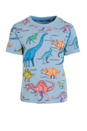 T-shirt met dierenprint blauw/multi
