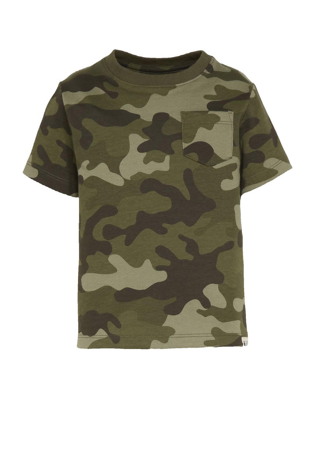 GAP T-shirt met camouflageprint groen, Groen