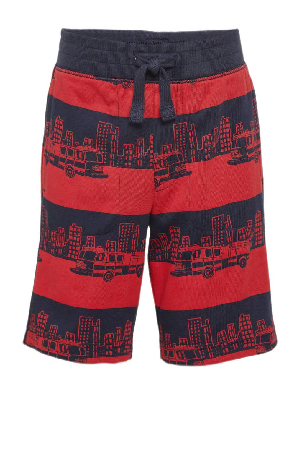 GAP regular fit bermuda met all over print rood/donkerblauw, Rood/donkerblauw