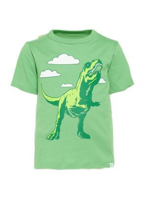 T-shirt met printopdruk groen