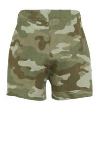 GAP baby regular fit sweatshort met camouflageprint groen, Groen