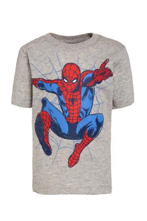 Spider-Man T-shirt met biologisch katoen lichtgrijs