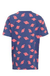 GAP T-shirt met all over print blauw/rood, Blauw/rood