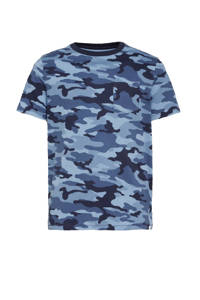 GAP T-shirt met camouflageprint blauw, Blauw