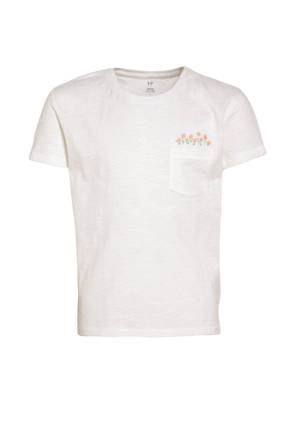 GAP gemêleerd T-shirt ecru, Ecru