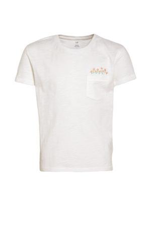 gemêleerd T-shirt ecru