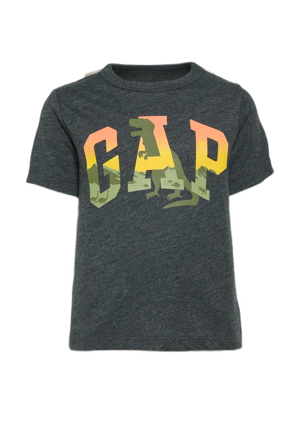 GAP T-shirt met logo antractiet, Antractiet