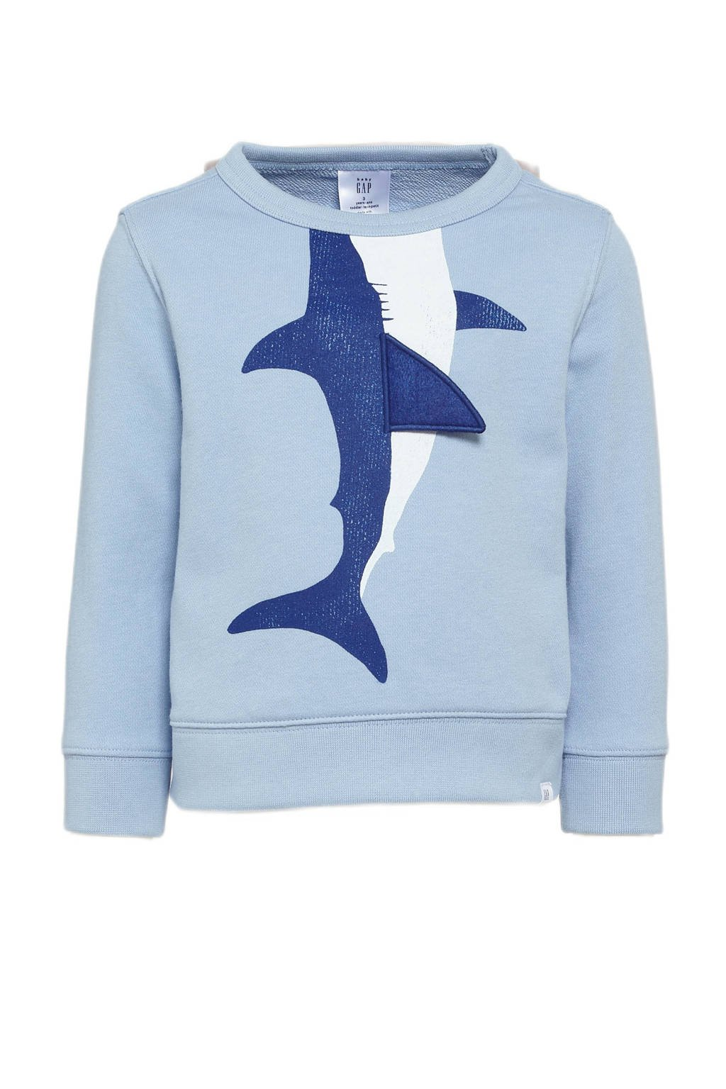 GAP sweater met printopdruk blauw, Blauw