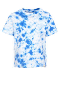 GAP tie-dye T-shirt blauw/wit, Blauw/wit